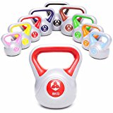 KettleBell »PowerMonster« Kugelhantel 2kg bis 20 kg / Handgewicht aus Kunststoff / High Performance Studio-Qualität ideal für Krafttraining, Functional-Training, Gymnastik und Heimtraining / 8kg / rot